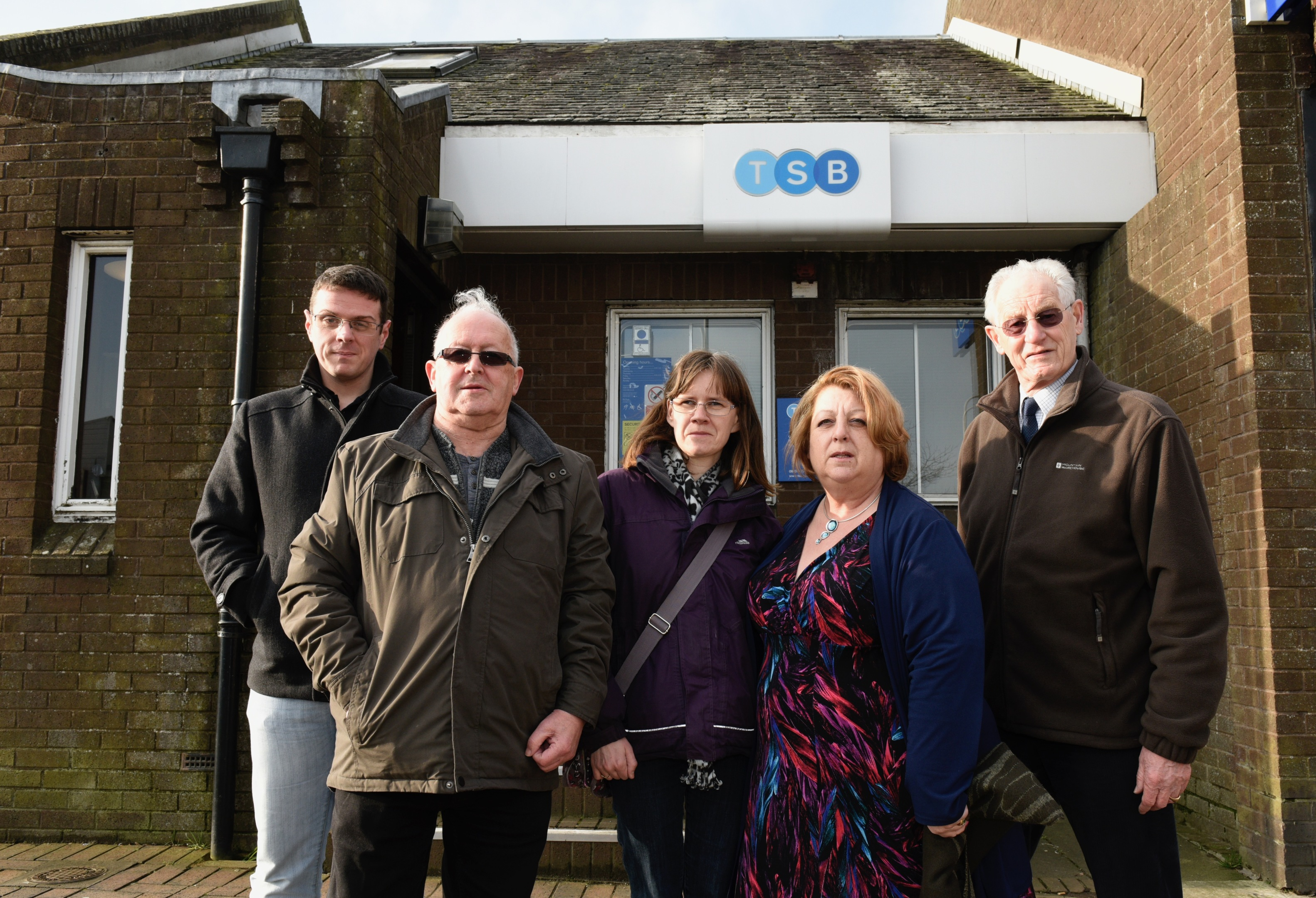 Locals are disappointed by the decision to close the TSB branch.