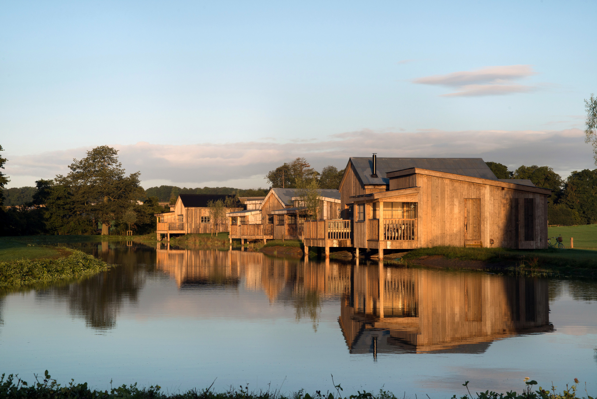 Holiday cabins such as these at Soho Farmhouse, Oxfordshire, could be built near Auchterarder.