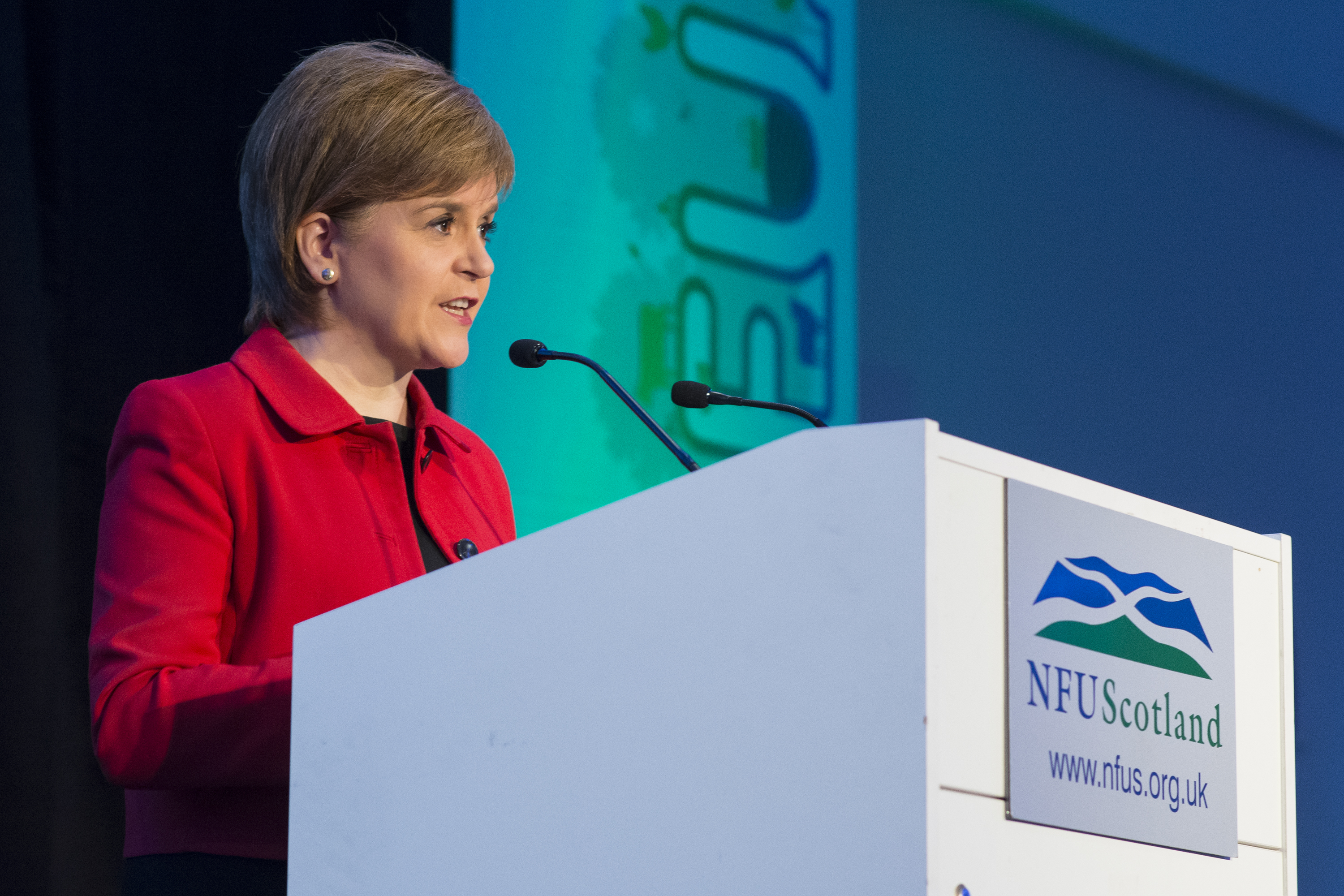 The First Minister's speech oozed support for the farming industry