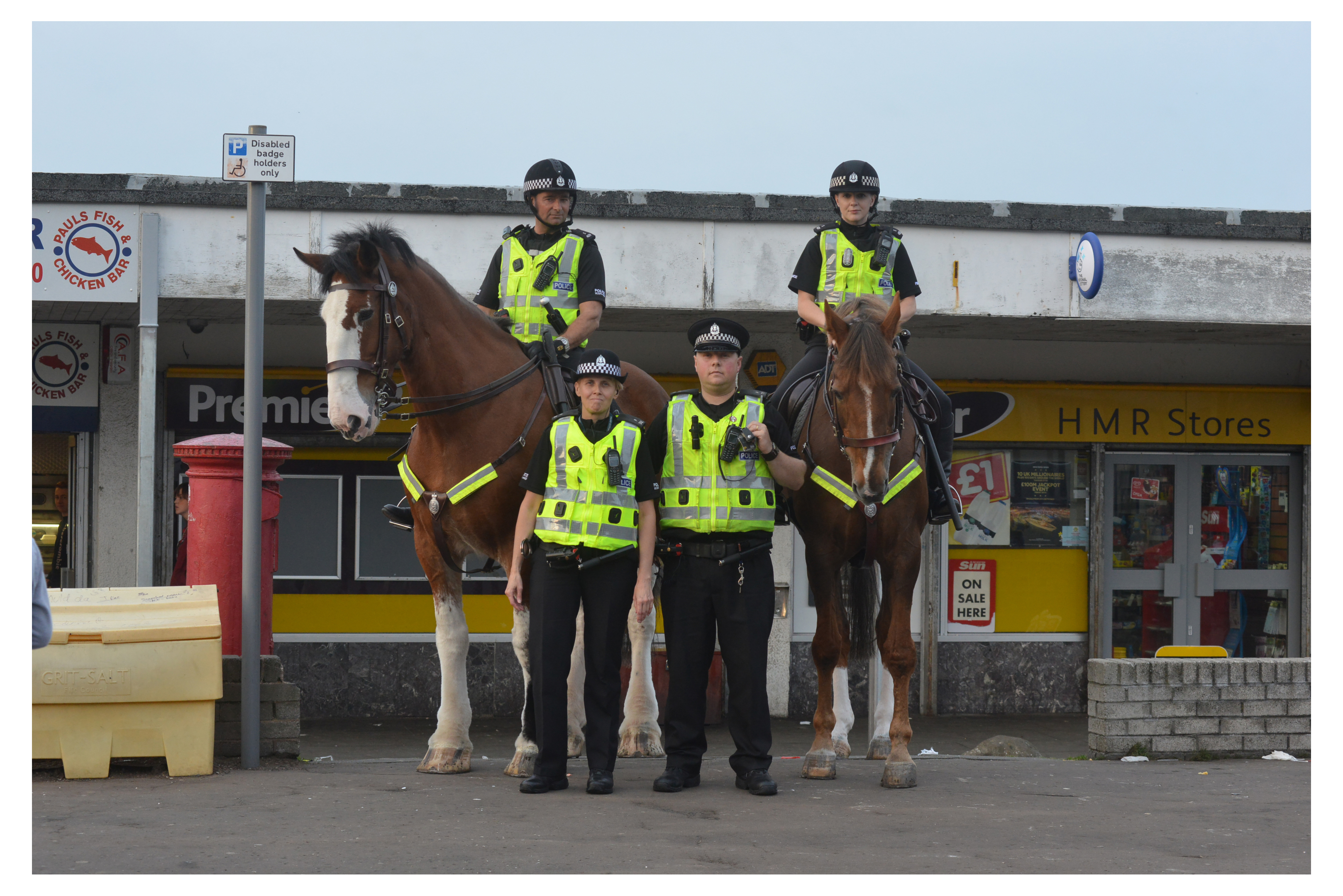 Mounted police visited Templehall in Kirkcaldy to tackle anti-social behaviour last year
