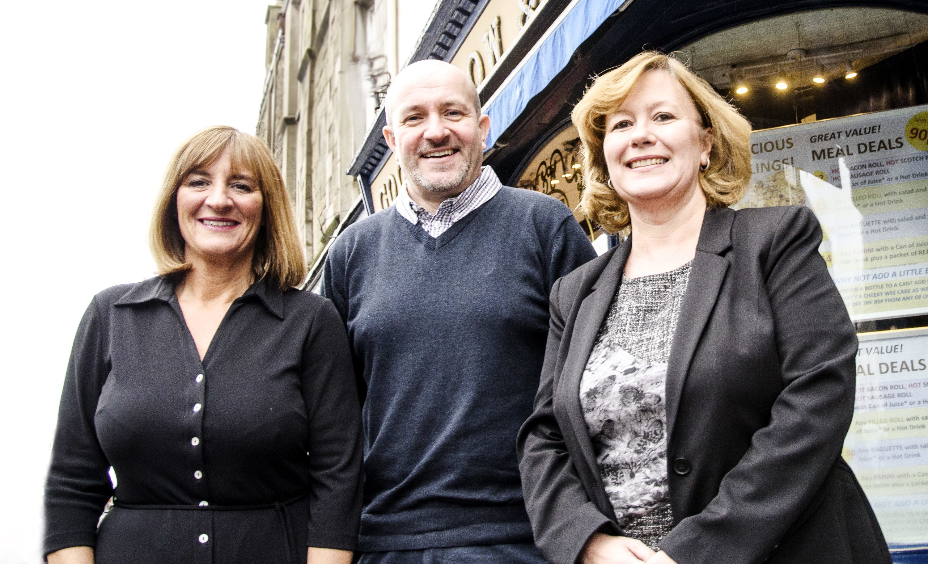 The new board members from left - Jacqui Souter, Rob Sinclair and Laura Ross.