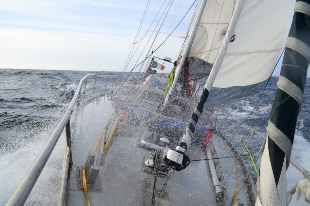 Challenging sea conditions on the Polar Ocean Challenge