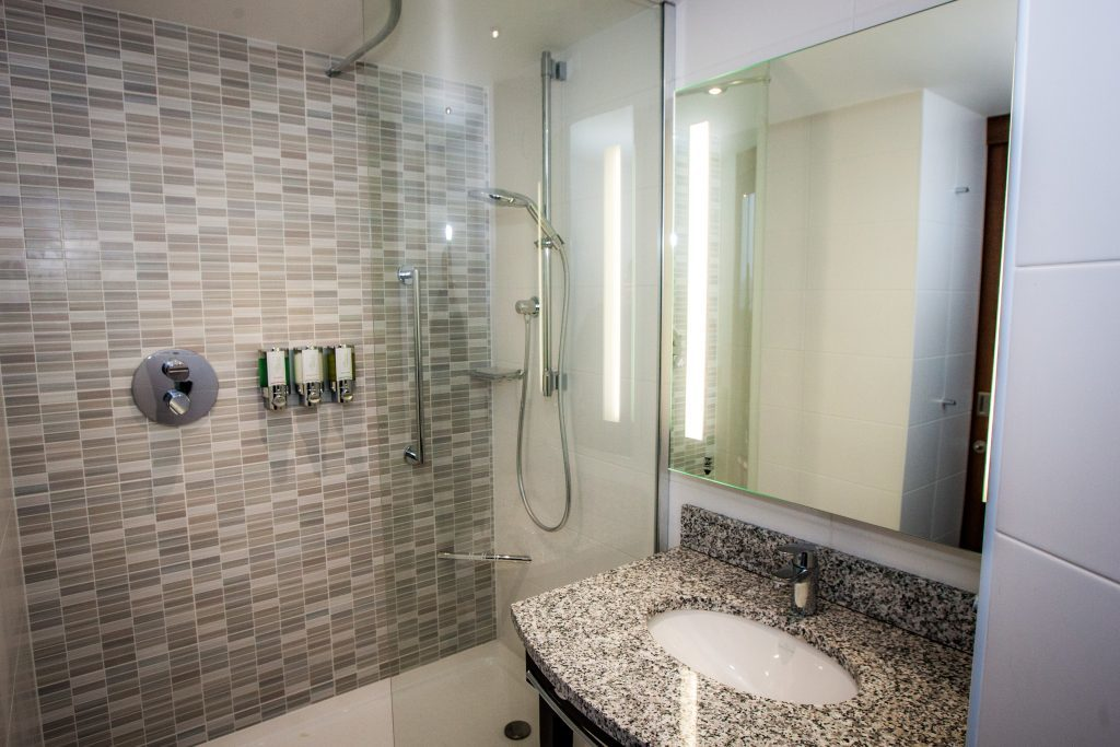 Each bedroom has been kitted out with a modern bathroom.