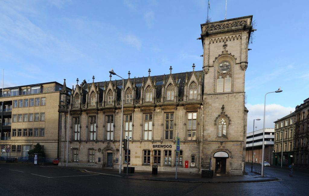 Royal Exchange building in Dundee
