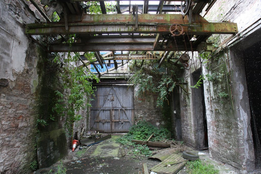 The High Mill as it looked in 2013 after being allowed to decay over the years. It has since been refurbished.