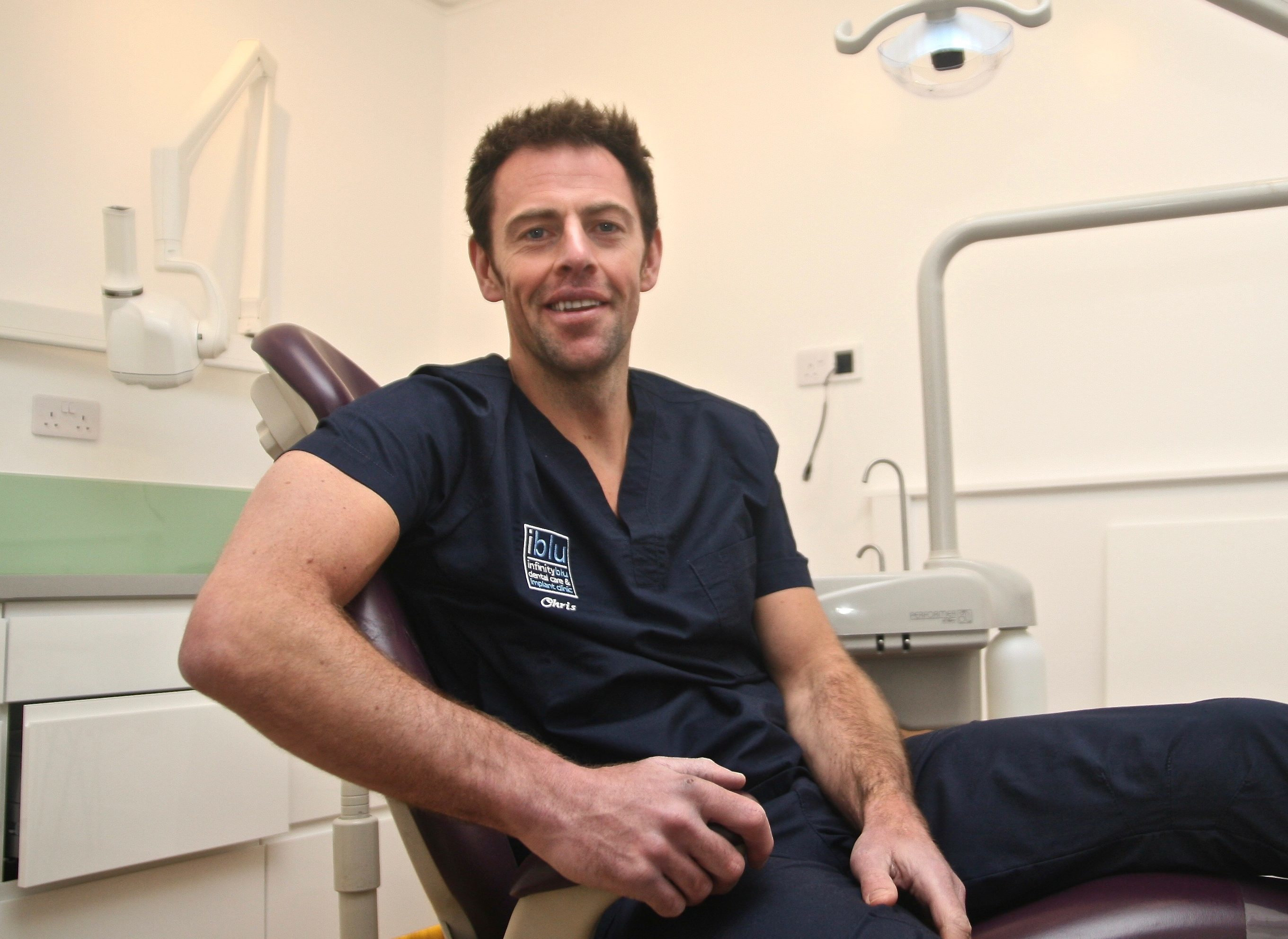 Chris had to undergo dental reconstruction following the crash.