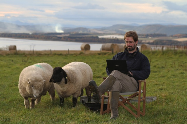 The author on his Fife farm
