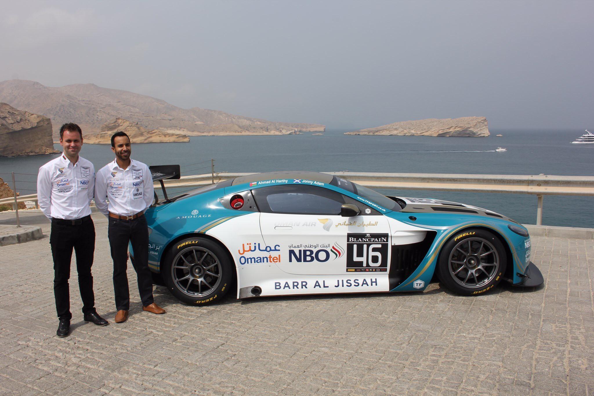 Adam was also  a Blancpain GT Series with Ahmad Al Harthy