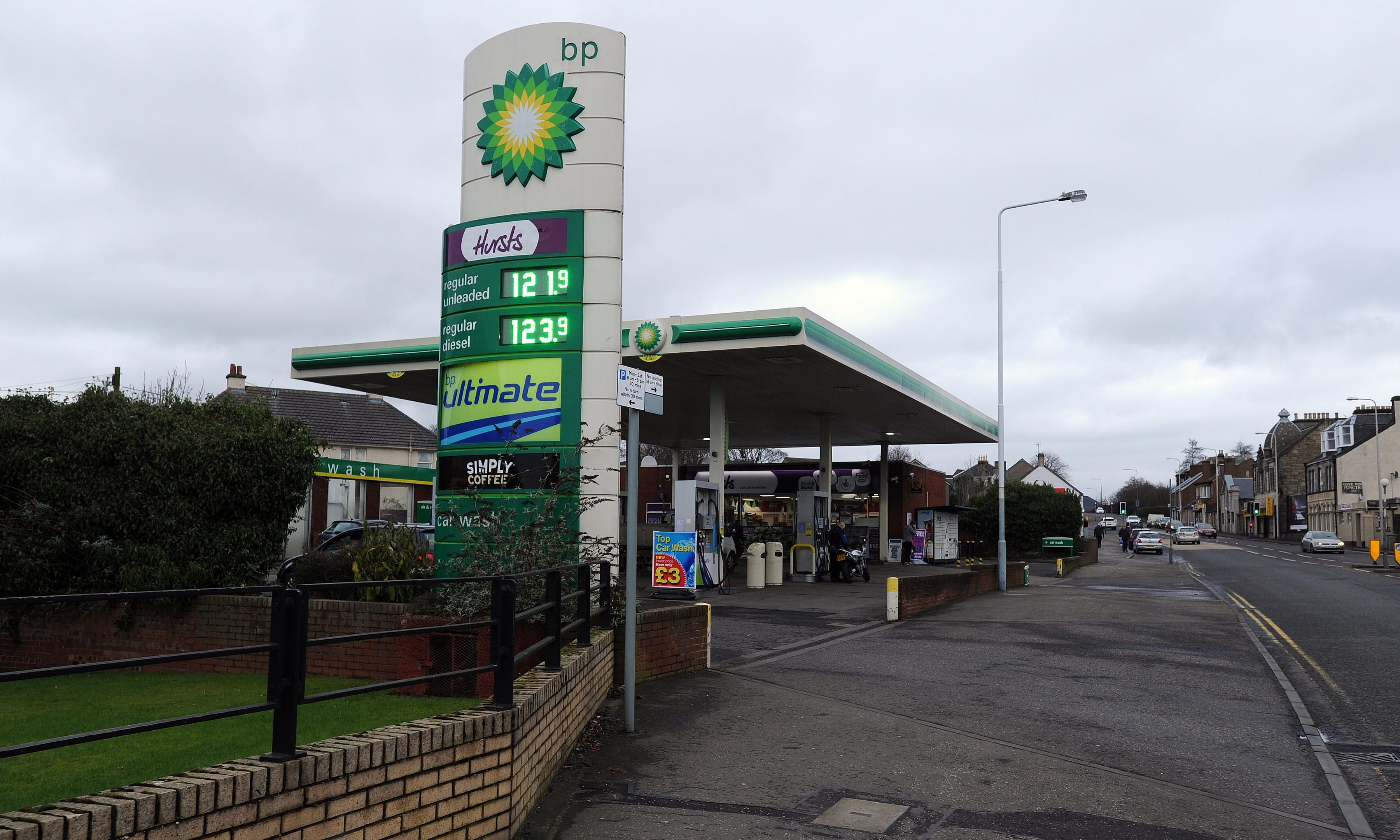 The woman says the man went on to frighten a member of staff at the BP filling station in St Clair Street.