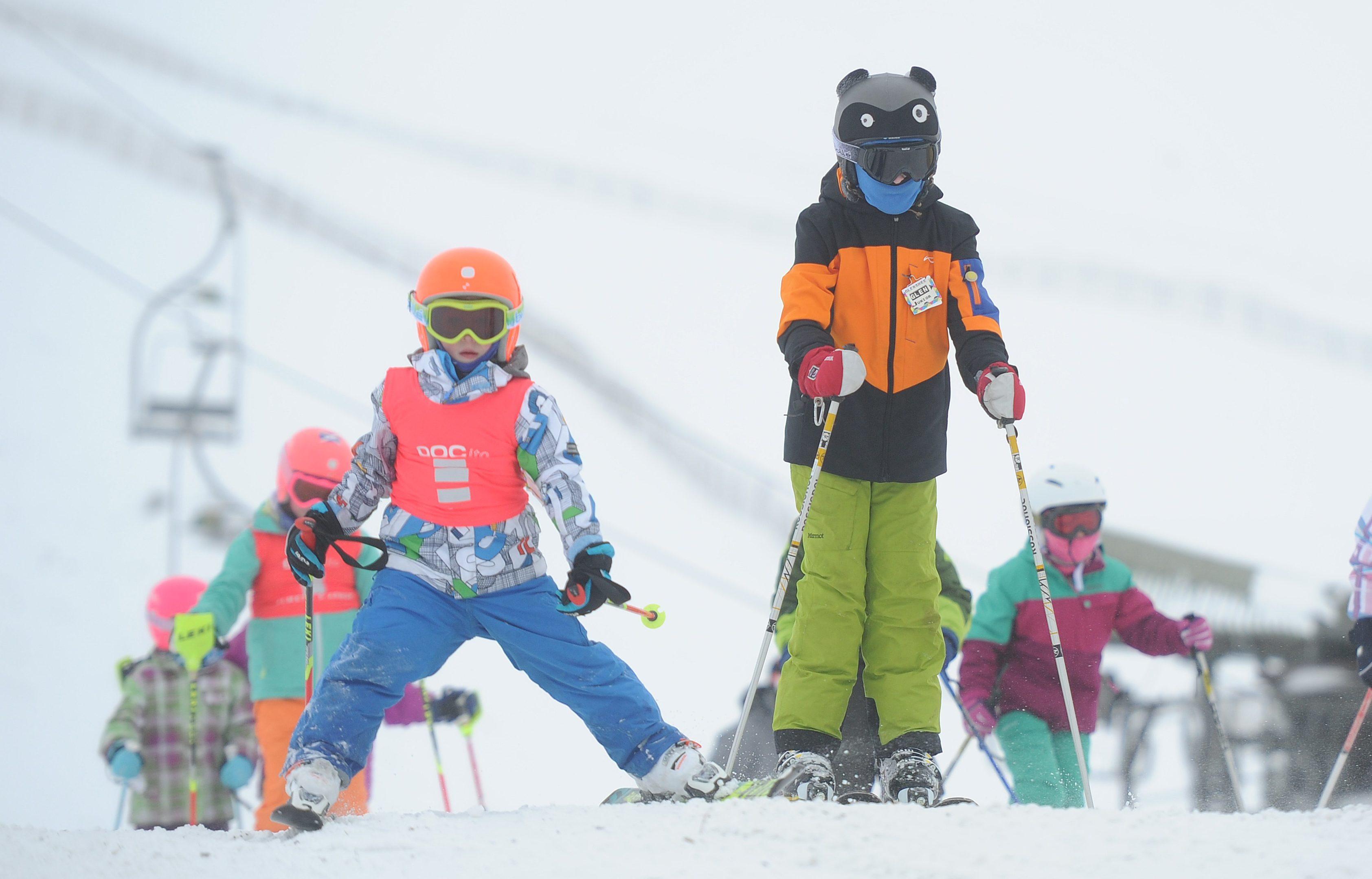 Ski enthusiasts at Glenshee.