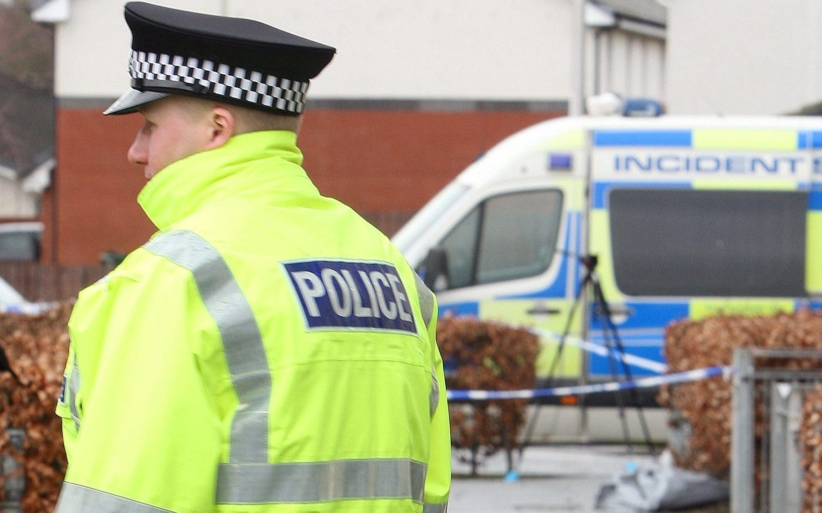 Police activity in Dunnock Park in the Muirton area of Perth on Saturday morning.