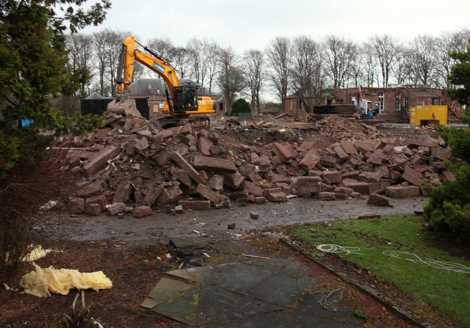 Demolition work under way at Little Cairnie Hospital in Arbroath