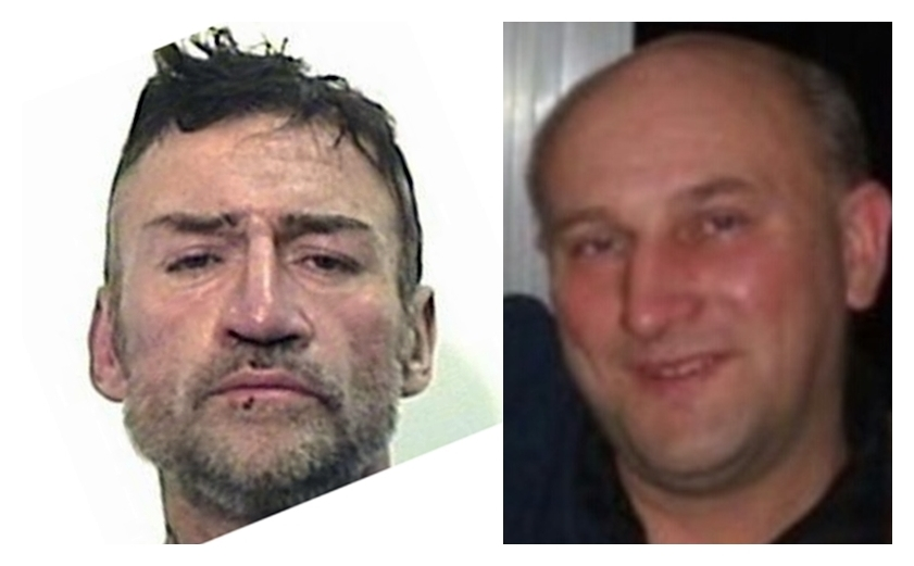Mark Anderson (left) subjected Nigel Poustie to a brutal and sustained attack.