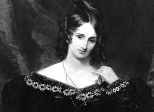 A portrait of Mary Shelley.