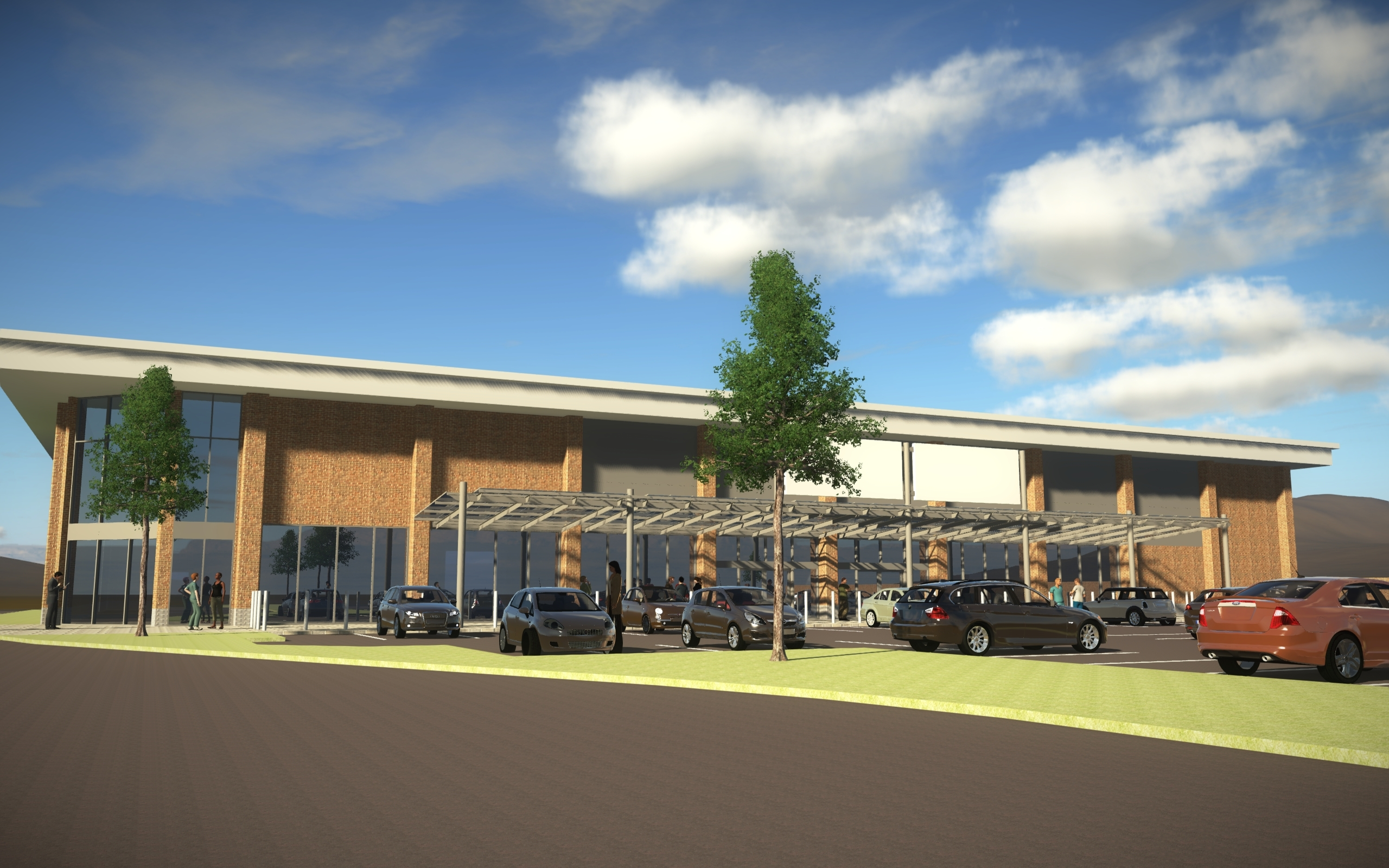 An impression of the new  £5 million toy store and gym scheme proposed for the Stack Retail Park.
