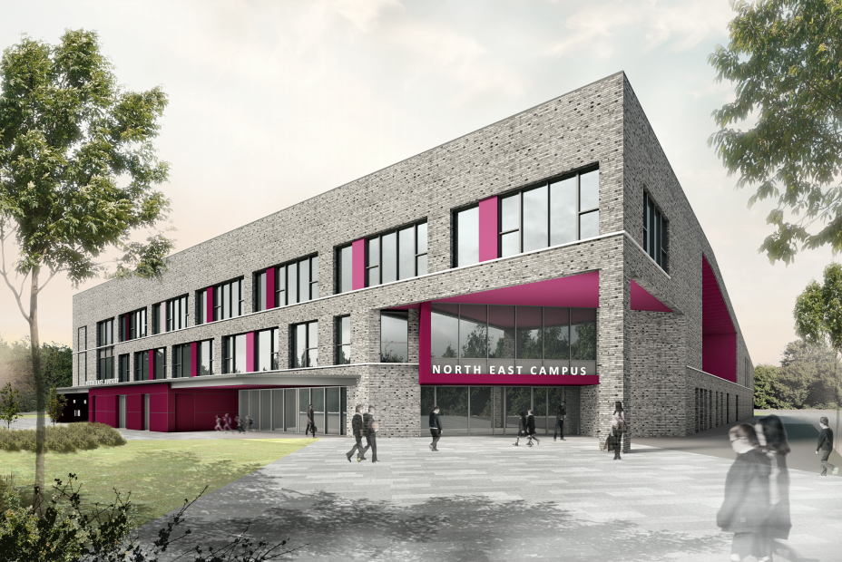 An impression of how the new school might look.