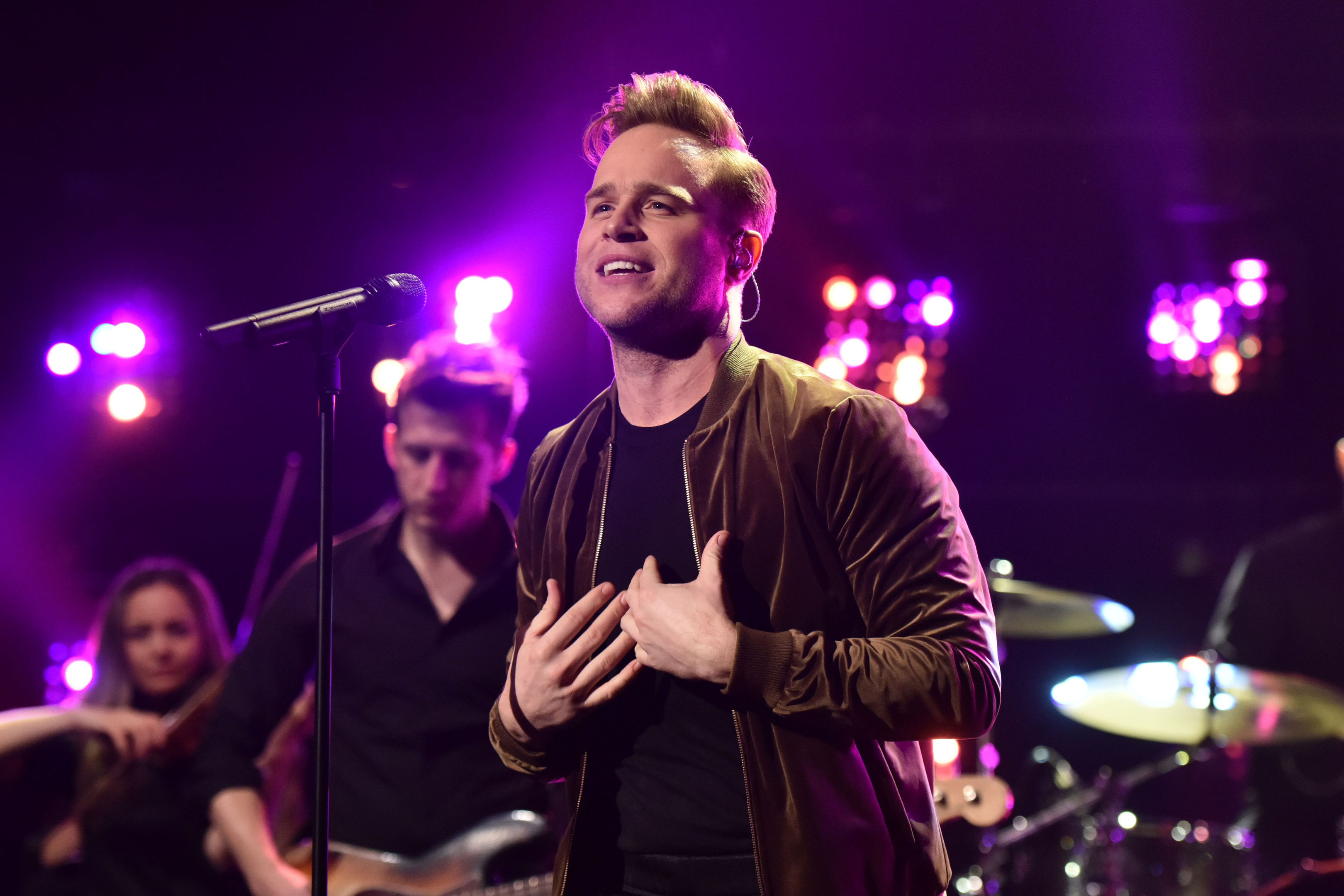 Olly Murs met Ruby backstage at the Hydro in 2017.