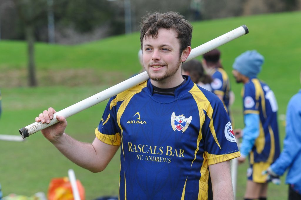 Sam Bunce, captain of St Andrews Quidditch club the St Andrews Snidgets