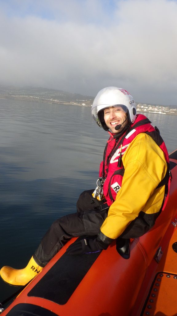 Reporter Jonathan Watson out with the Kinghorn lifeboat