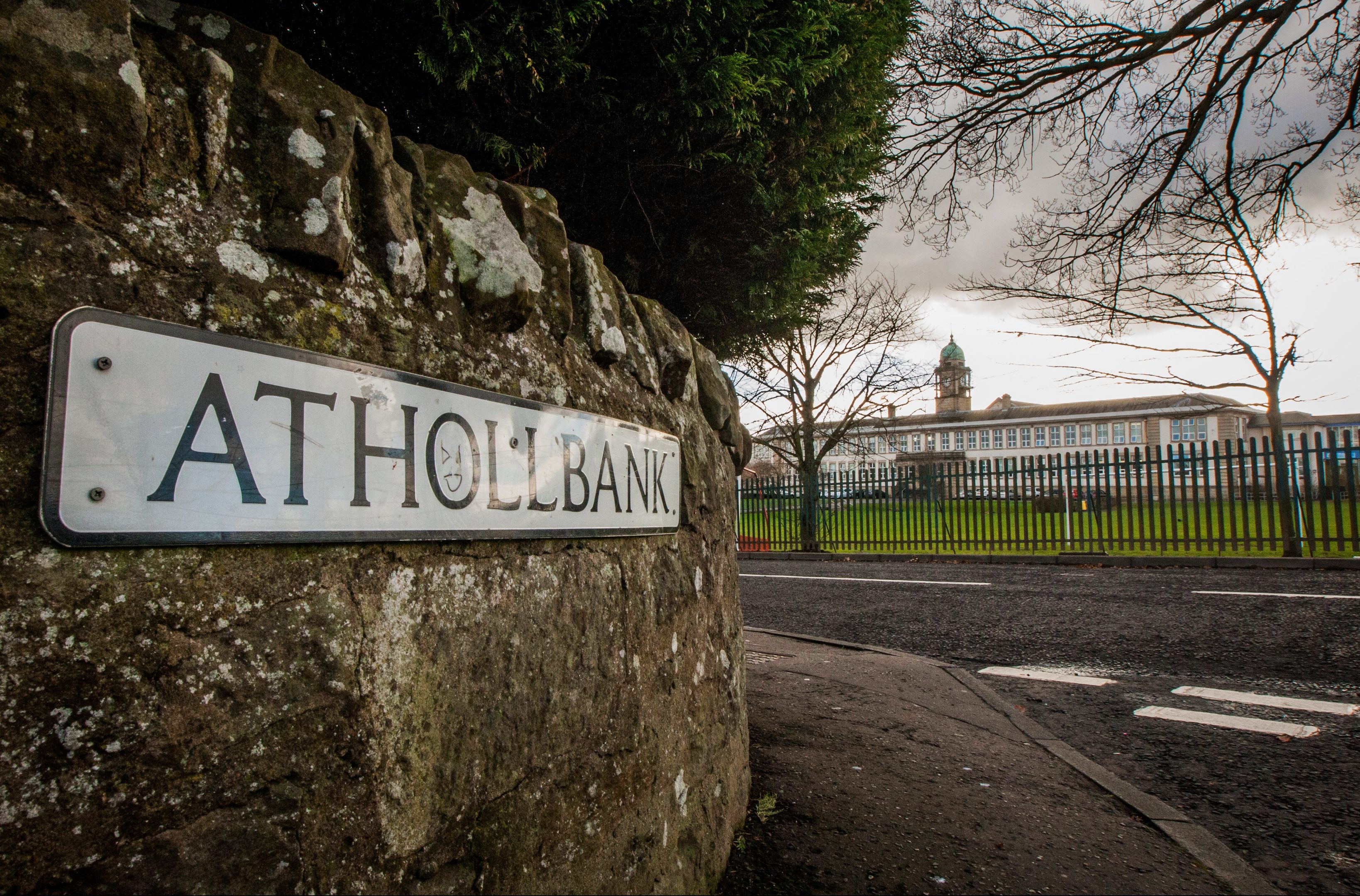 Athollbank with Perth Academy in the background.