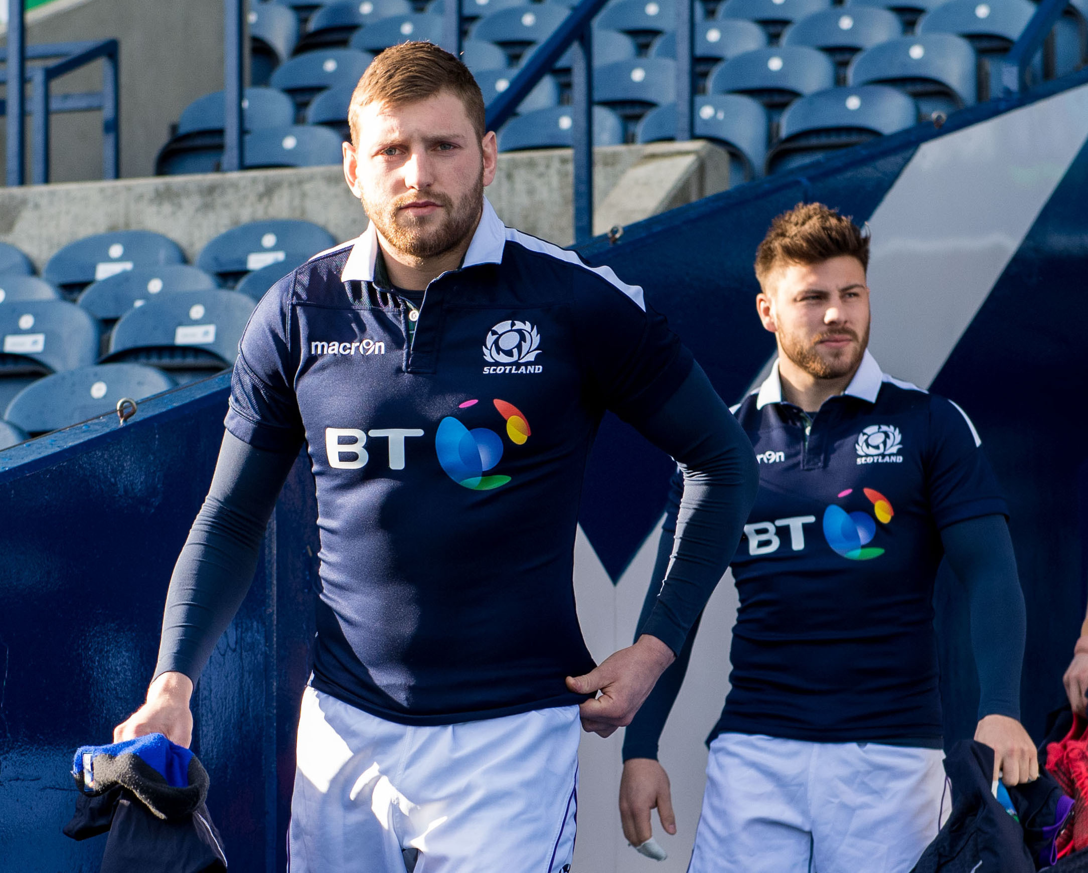 Finn Russell (Left) and Ali Price's partnership at half back will be crucial to Scotland against Wales.