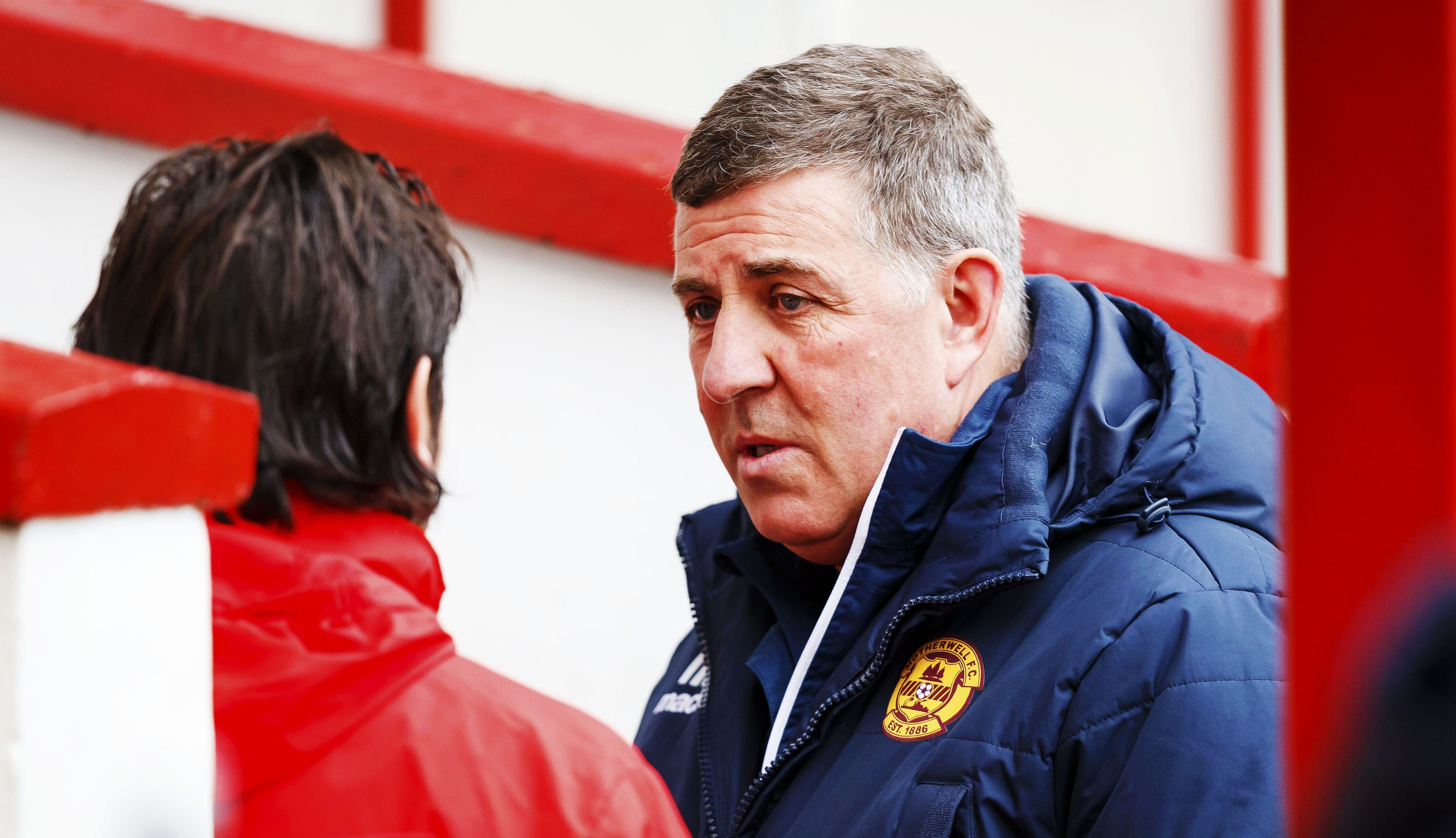 Paul Hartley, left, with Mark McGhee on Saturday at Fir Park.