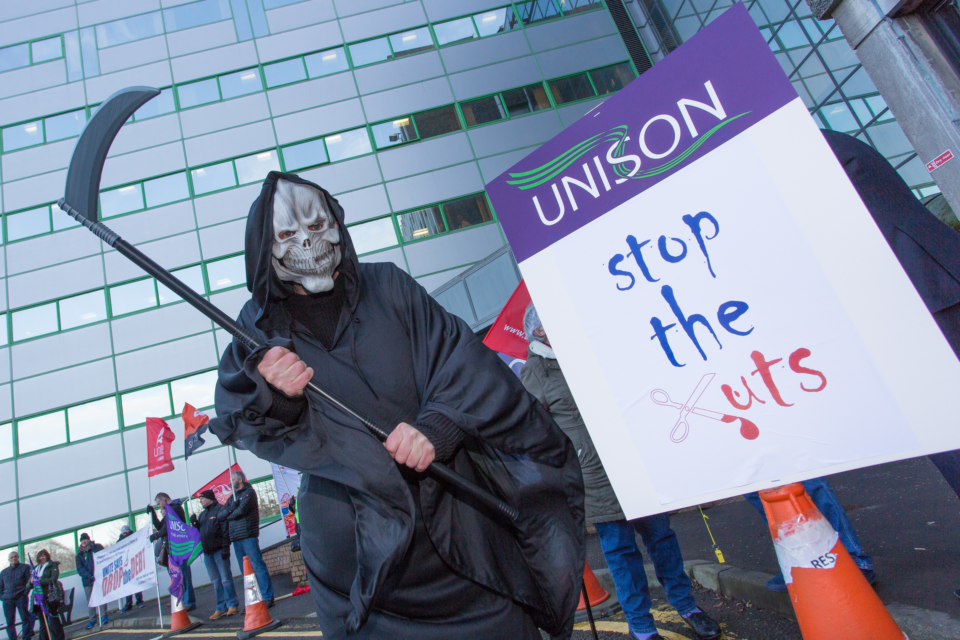 Protesters demanded investment not cuts as Fife Council gathered to set its budget