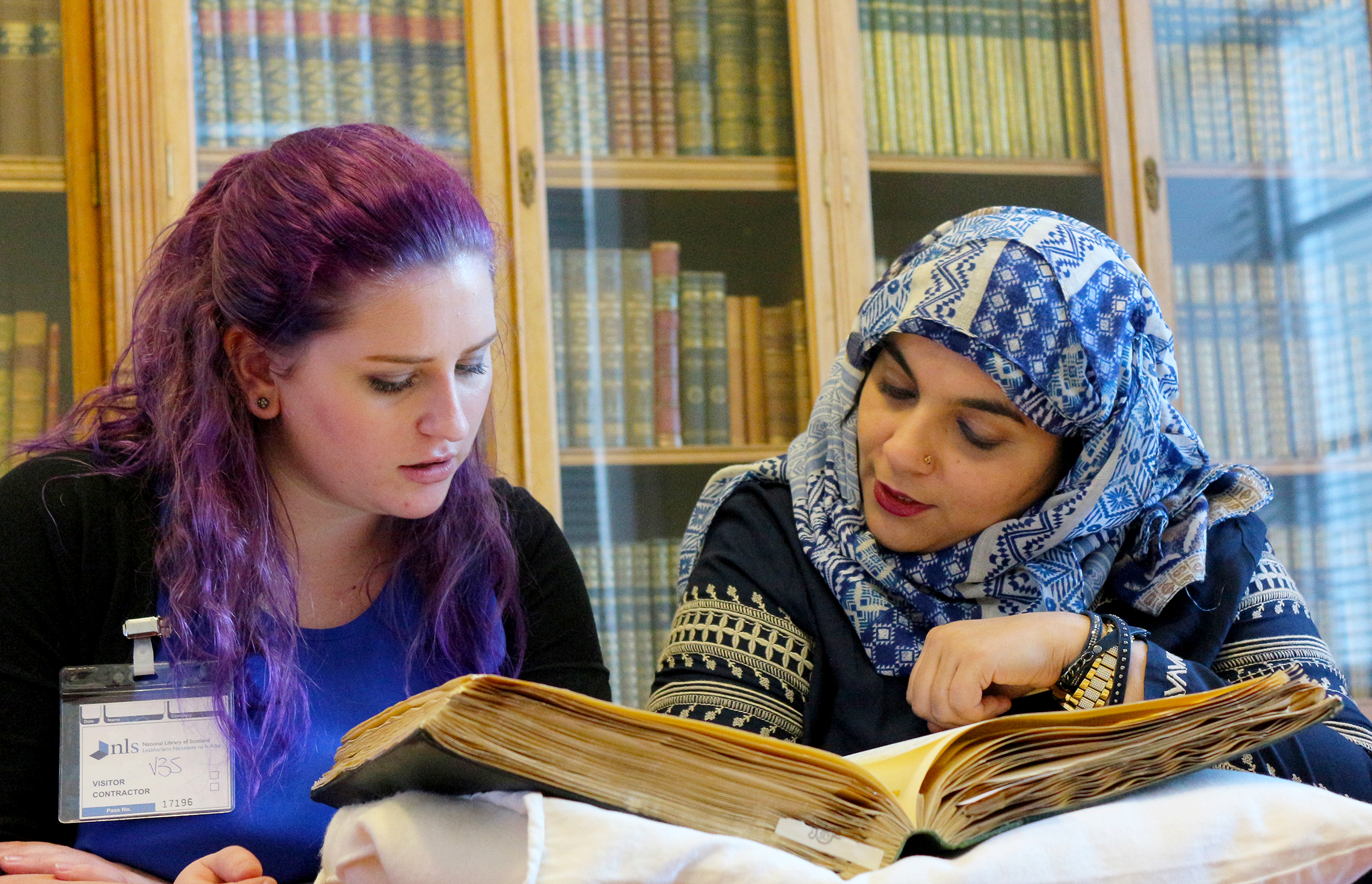 Scotswummin researchers Becca Duffell of Cheviot Youth and Fozzia Ali, Youth Worker, Falkirk Council.