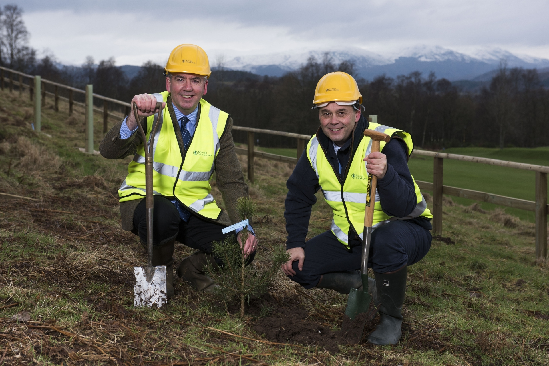 Ralland Browne, Scottish Woodlands, and Russell Crighton, Crieff Hydro.