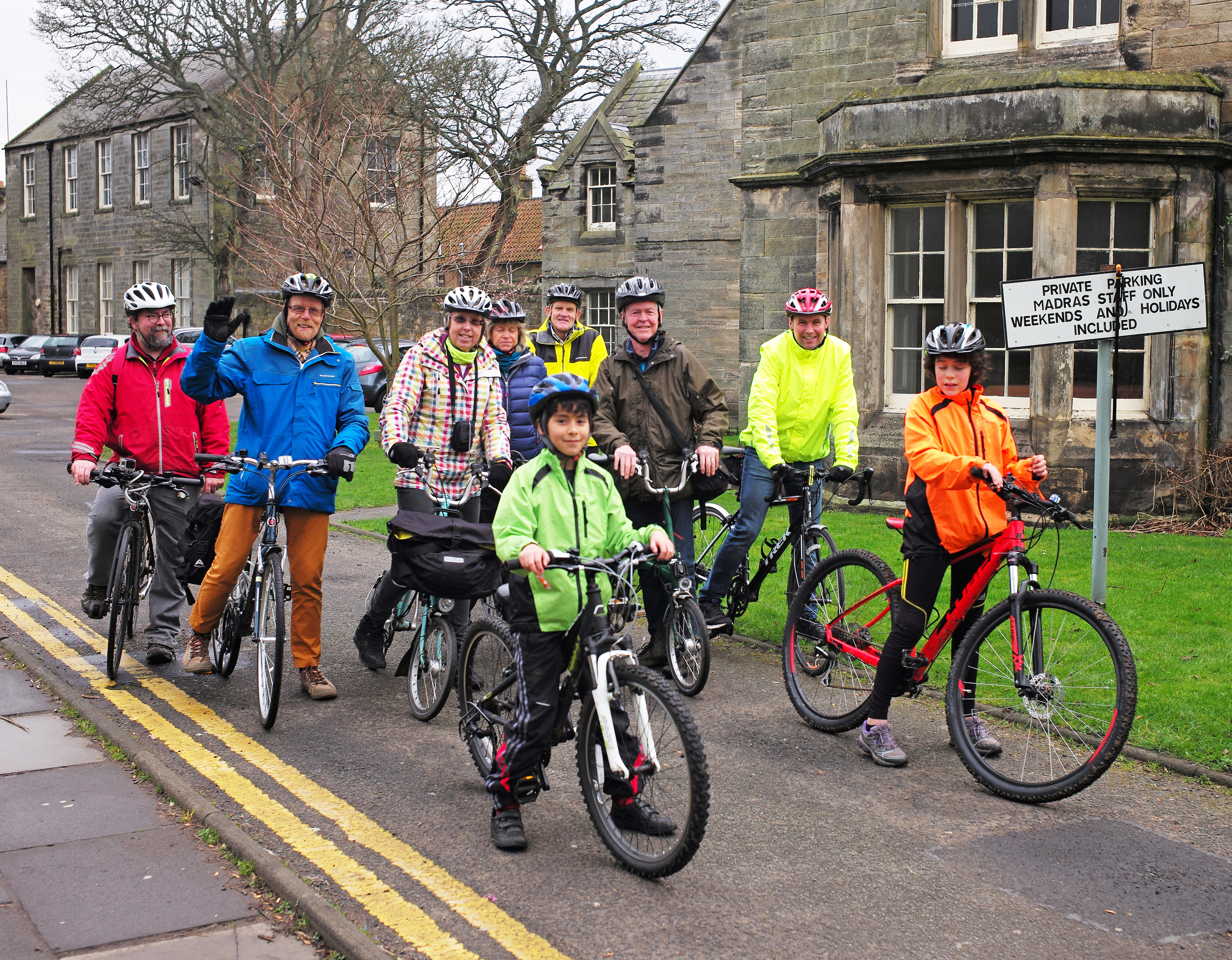 Members of the St Andrews cycling group.