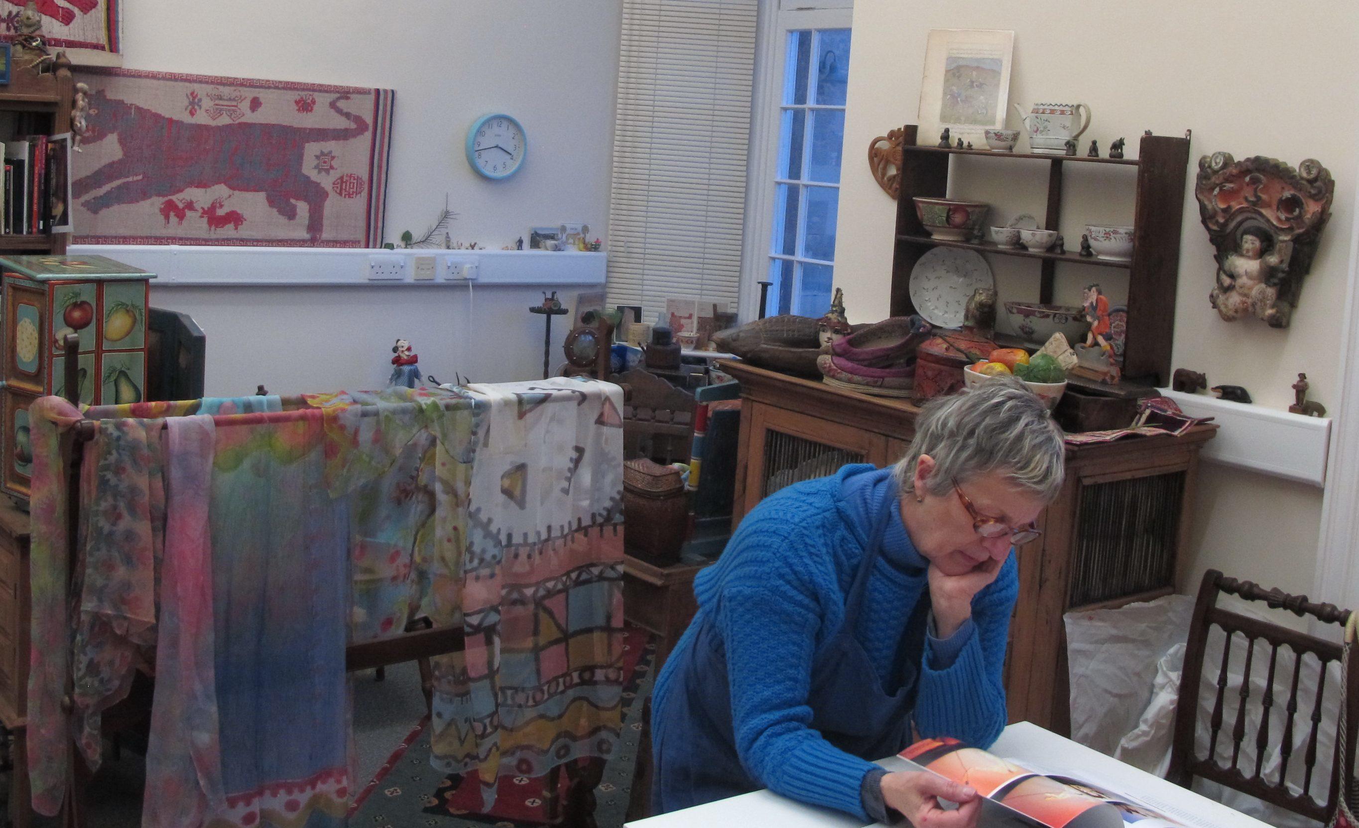 Suzy Kirk in her studio