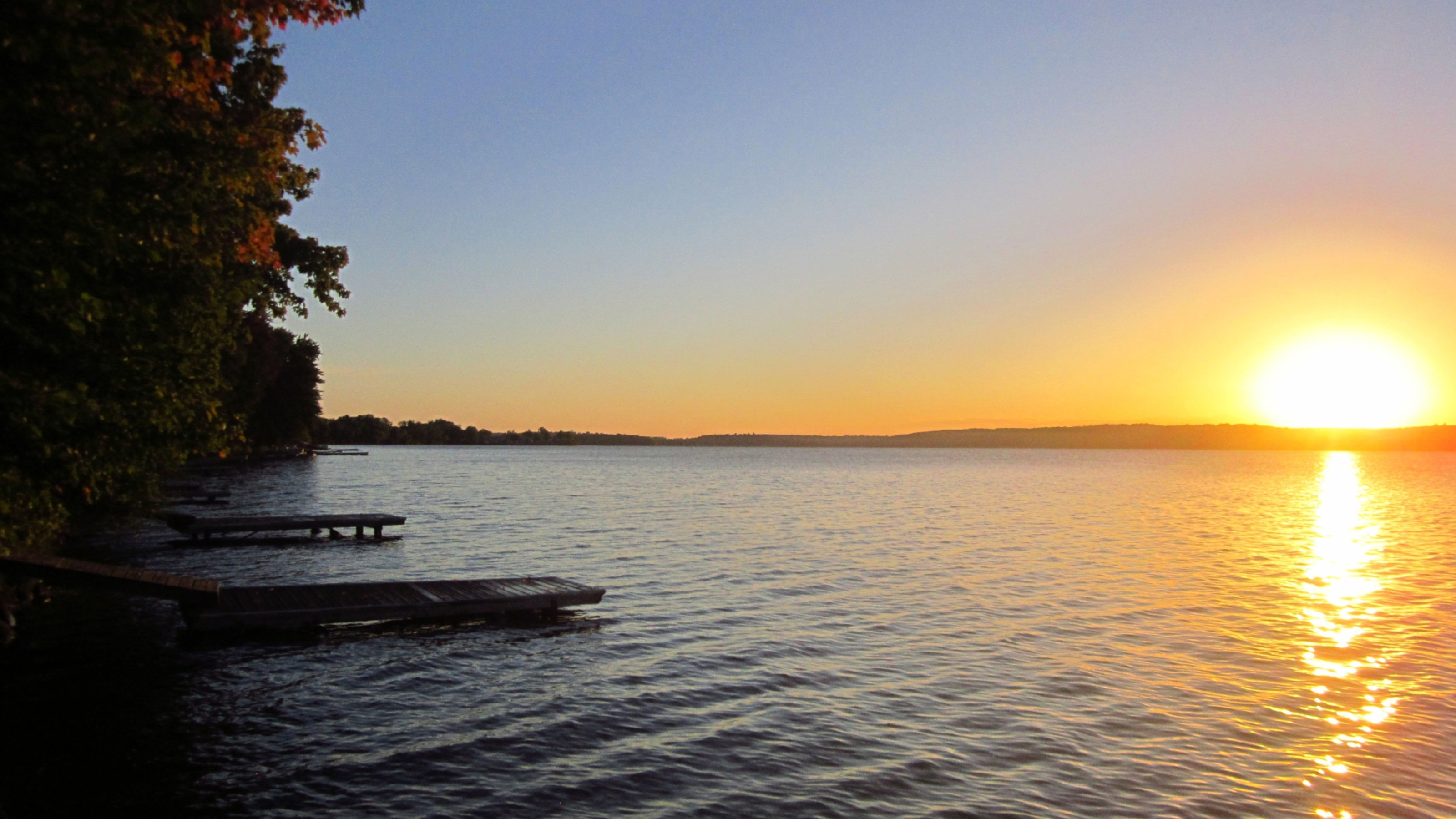 Blissful sunrise at Elmhirst Resort, Ontario.