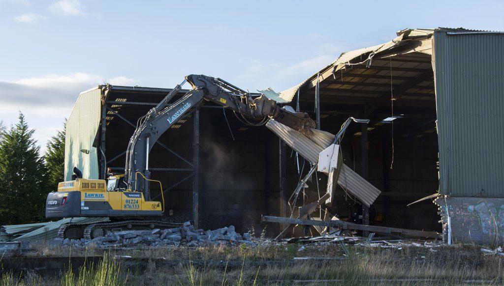 Demolition of Abertay Works in Tayport