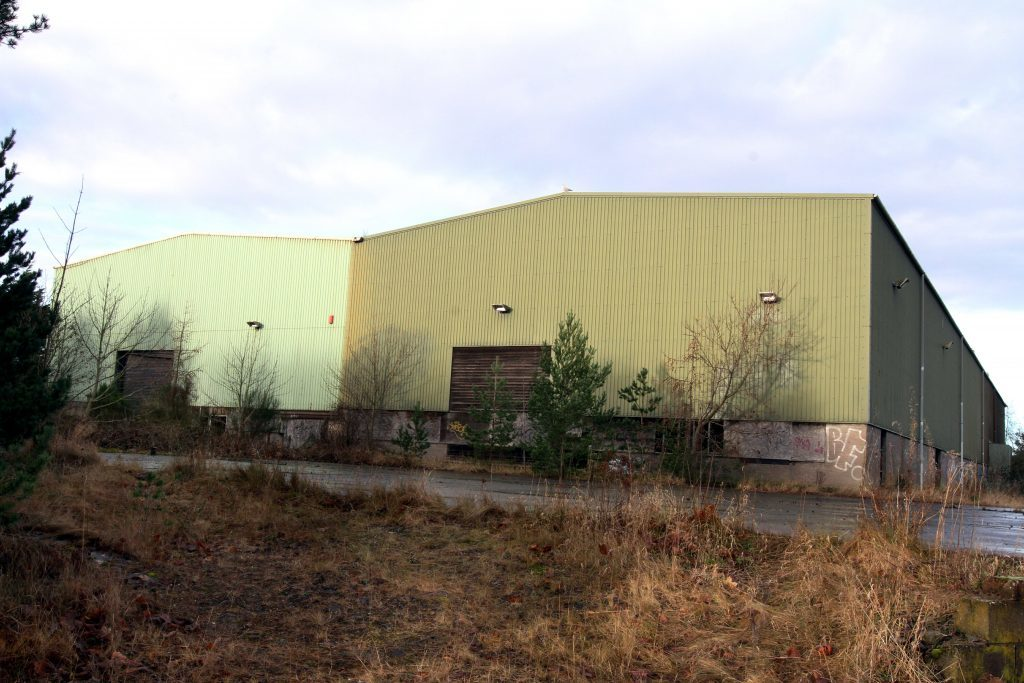 Abertay Works in Tayport before demolition