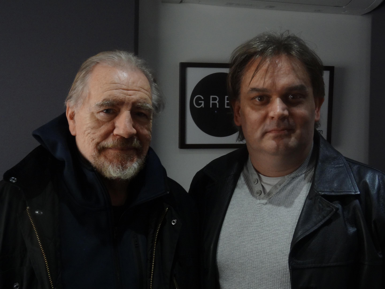 Mark Stirton (right) with Brian Cox