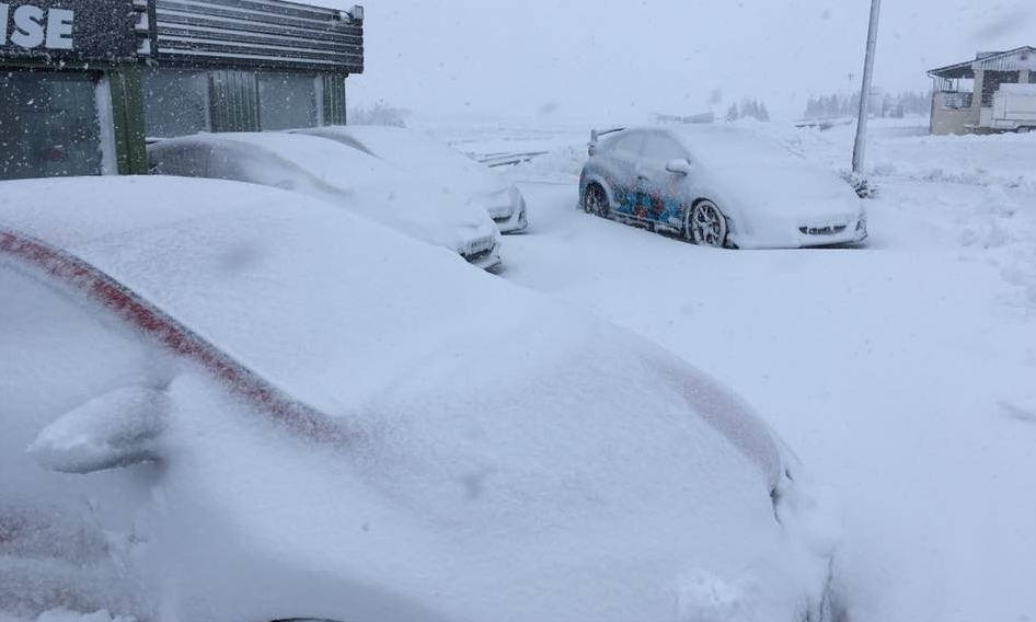 Racing is definitely off the agenda today at the Knockhill circuit in Fife.