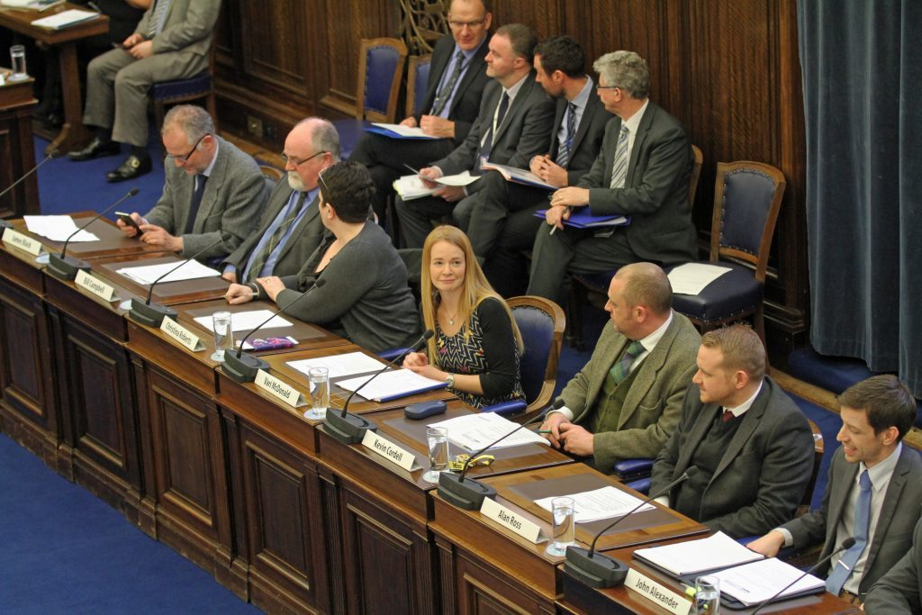 The budget meeting under way.