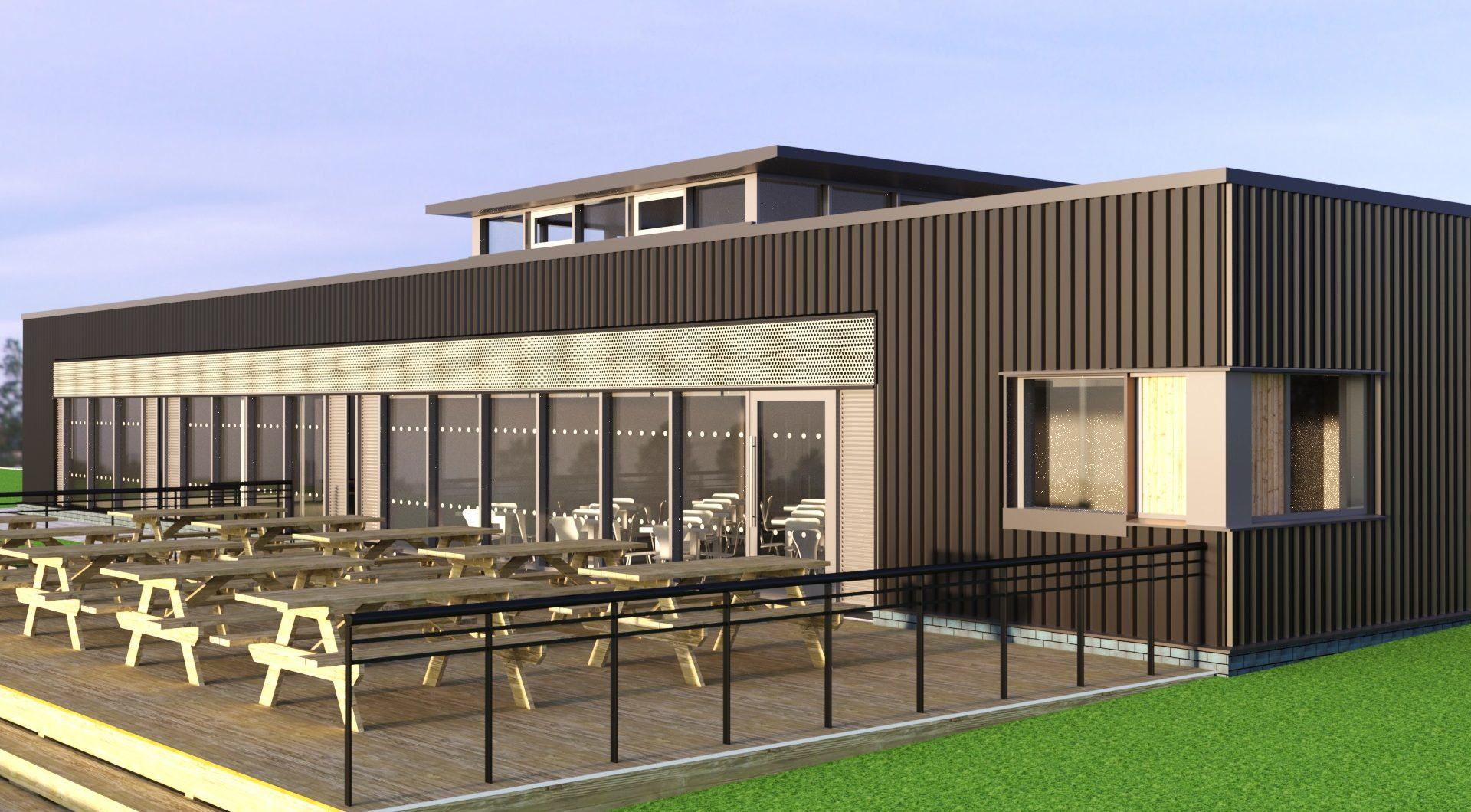 An artist impression of the visitor centre.