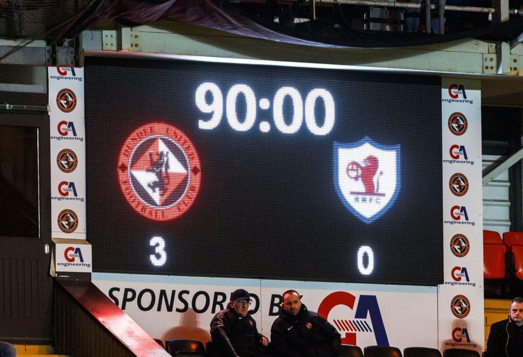 04/02/17 SCOTTISH CHAMPIONSHIP DUNDEE UNITED V RAITH ROVERS (3-0) TANNADICE - DUNDEE Tonight's full time score