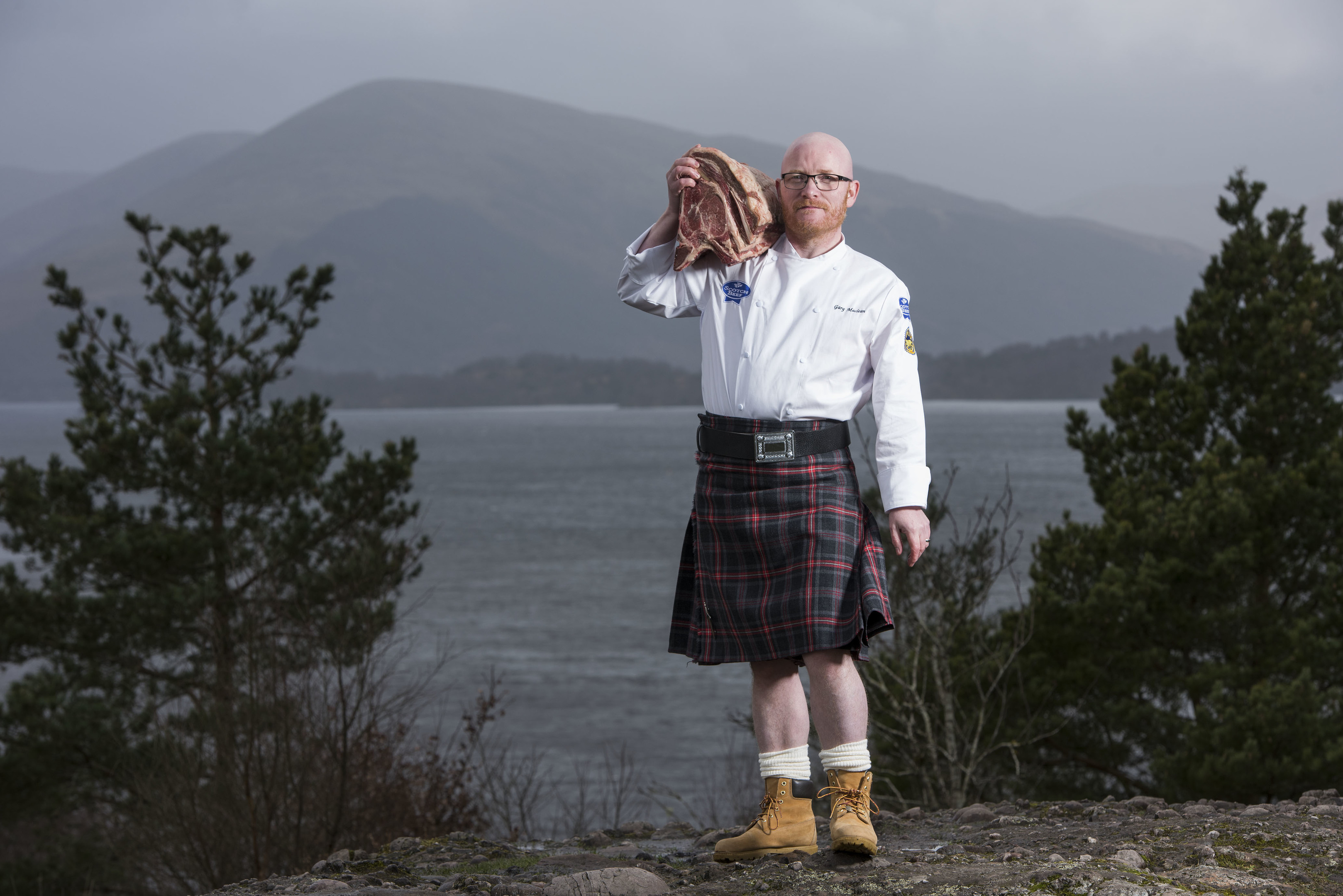 Gary Maclean launched the campaign on the banks of Loch Lomond