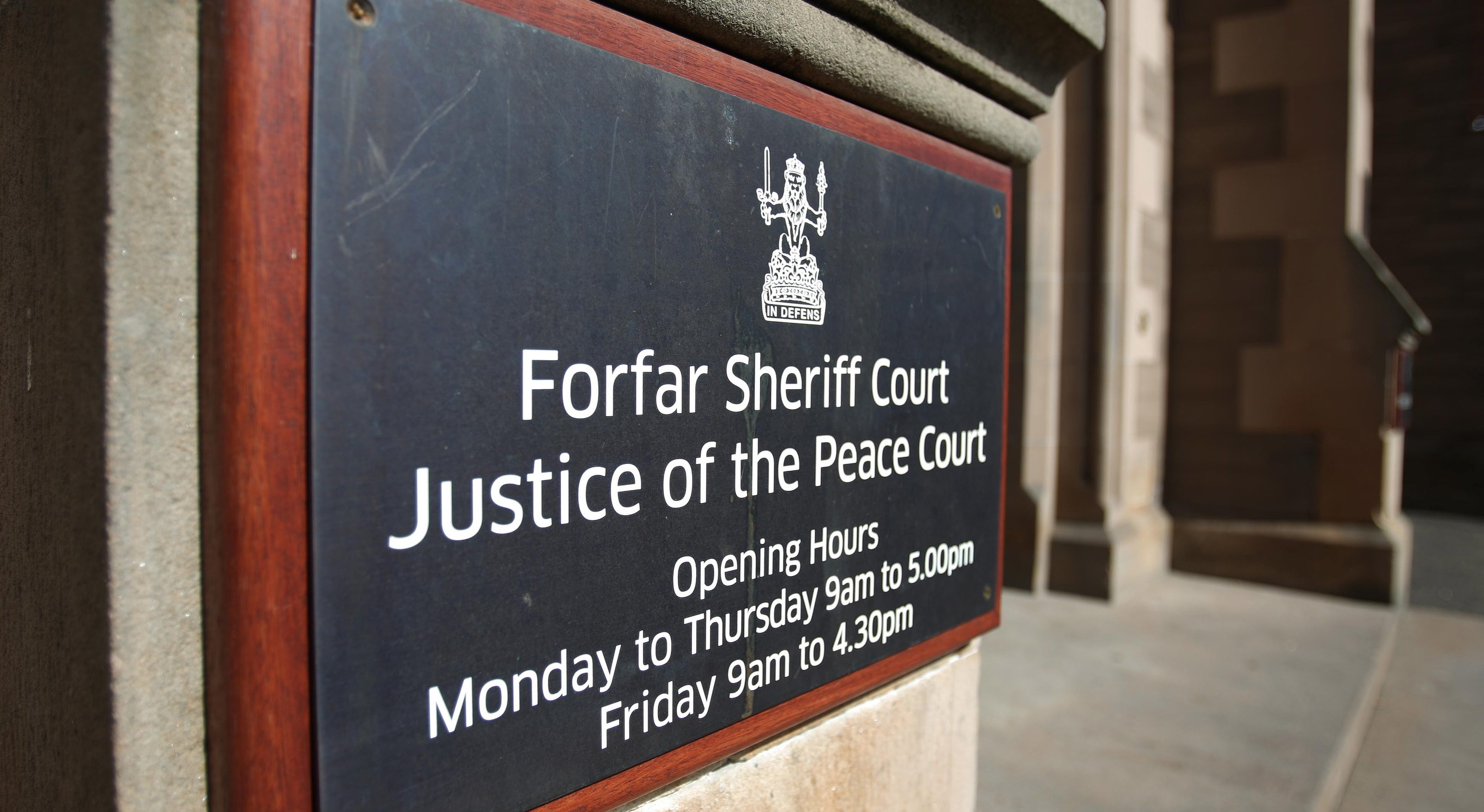 Forfar Sheriff and JP Court.