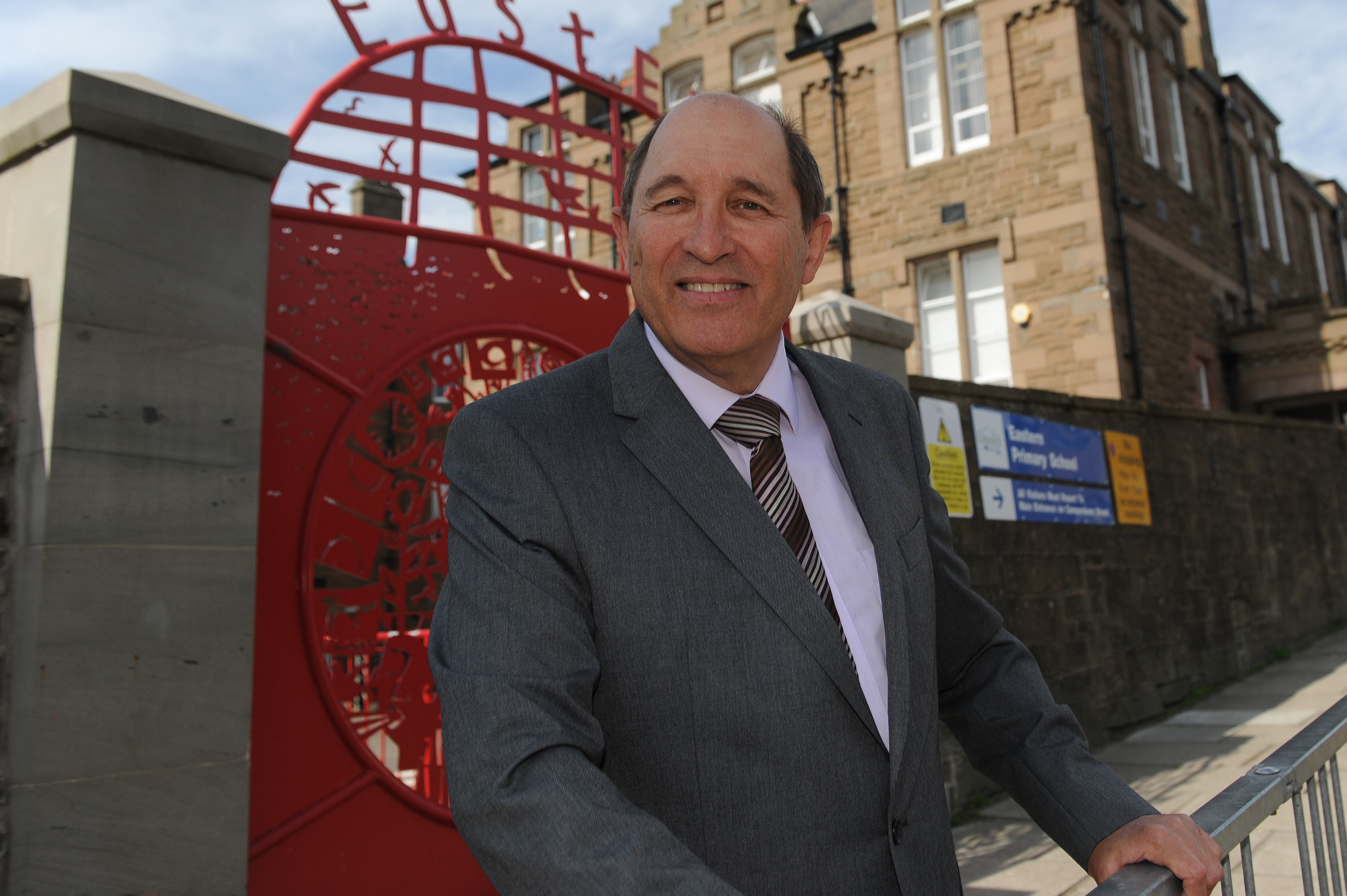 Mr Bidwell wants pupils to report concerns over offensive weapons in schools.