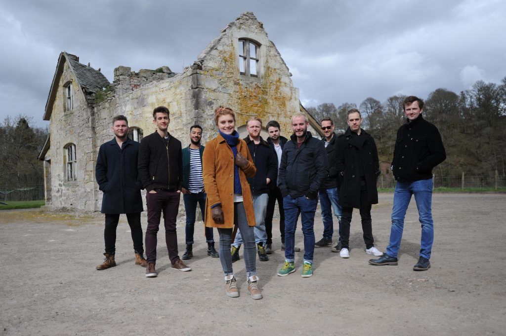 Pictured at The Barn, Dalcrue, are the cast of 306: The Dawn. The production was a huge hit.