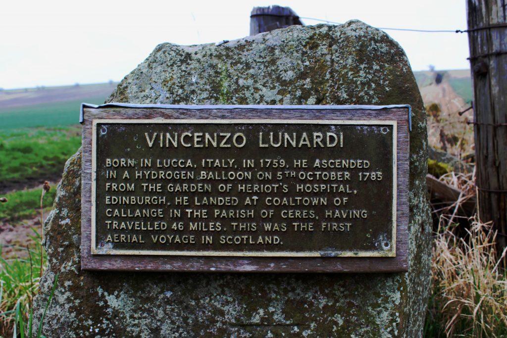 3 - Plaque marking the spot where Vincenzo Lunardi's balloon landed - James Carron, Take a Hike