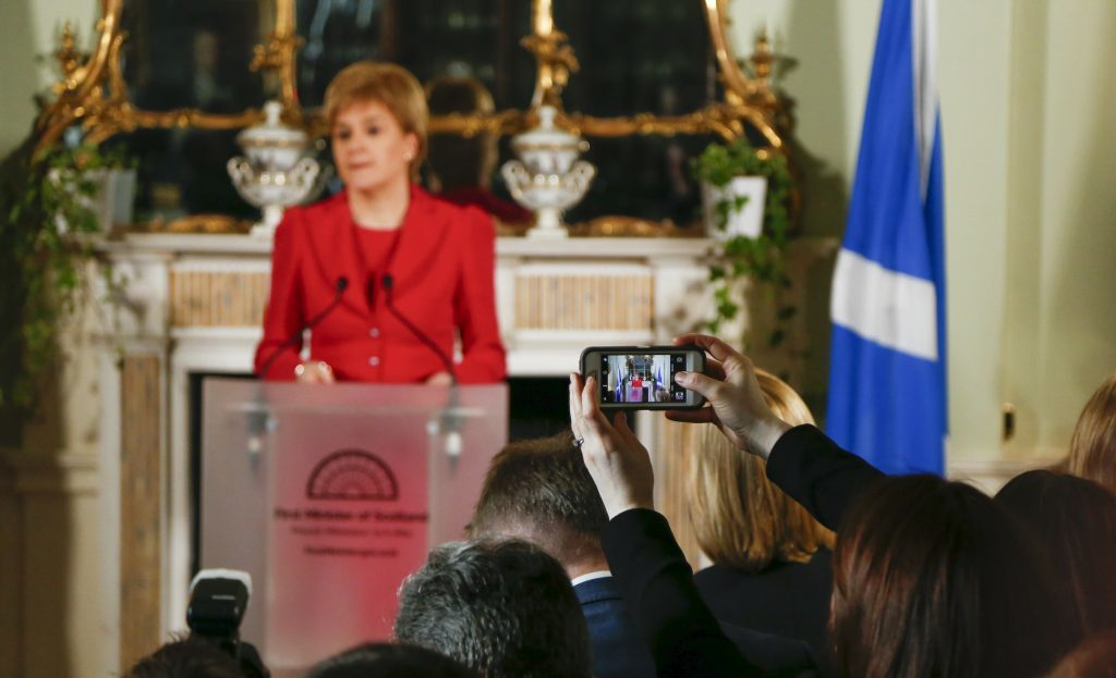 Nicola Sturgeon has upped the stakes in the most dramatic way.