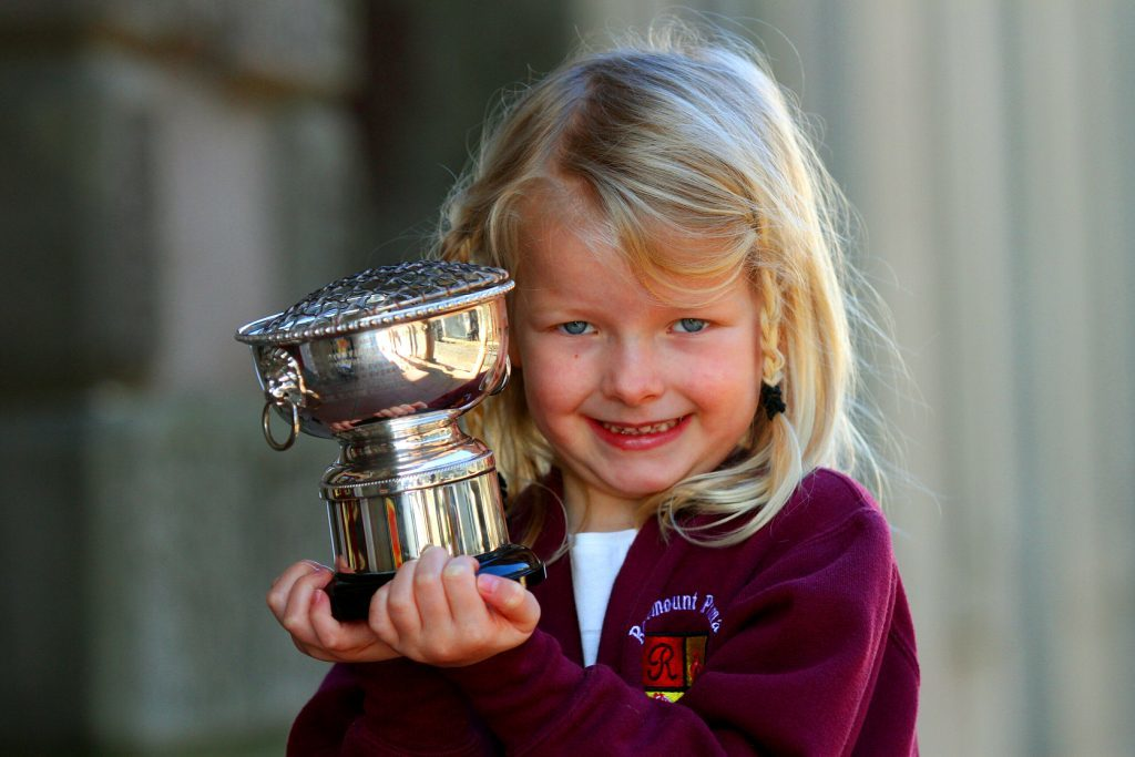 Emily Lee Christie from Rosemount Primary, Montrose, who won the Class 22 vocal solo girls