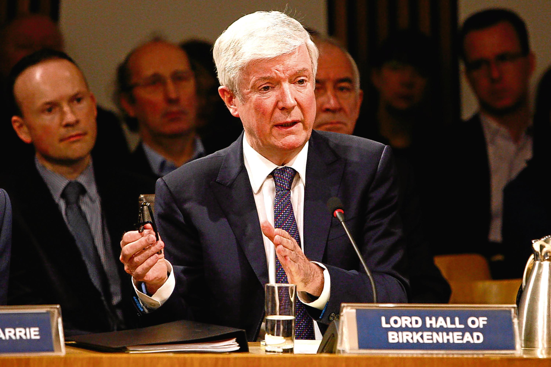 BBC Director General Lord Tony Hall meets MSPs at Holyrood.