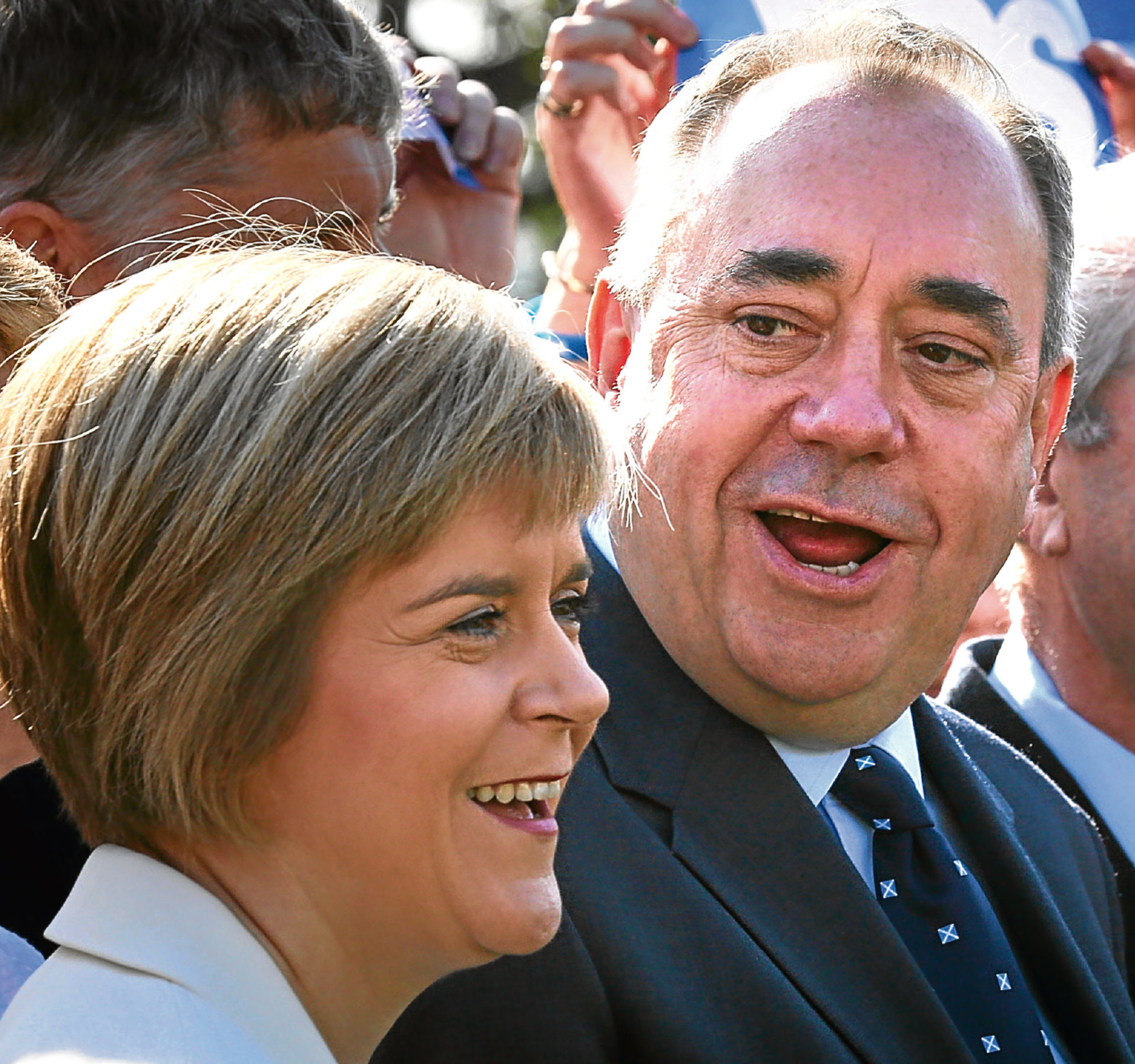 Nicola Sturgeon and Alex Salmond during the 2014 camapaign.