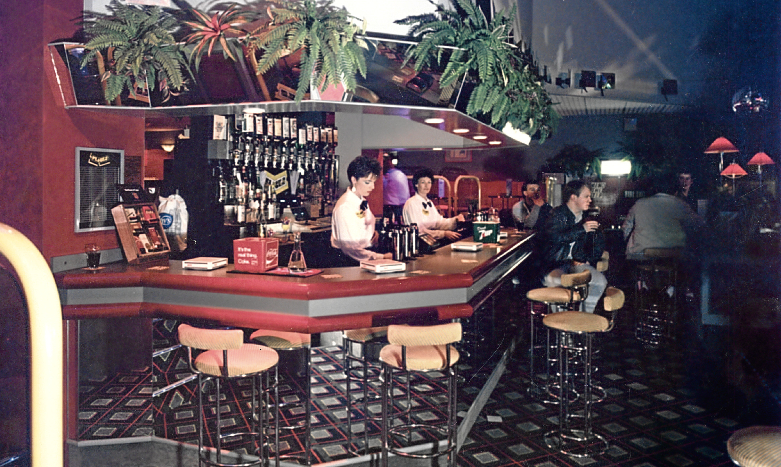 The interior of Flicks in its heyday