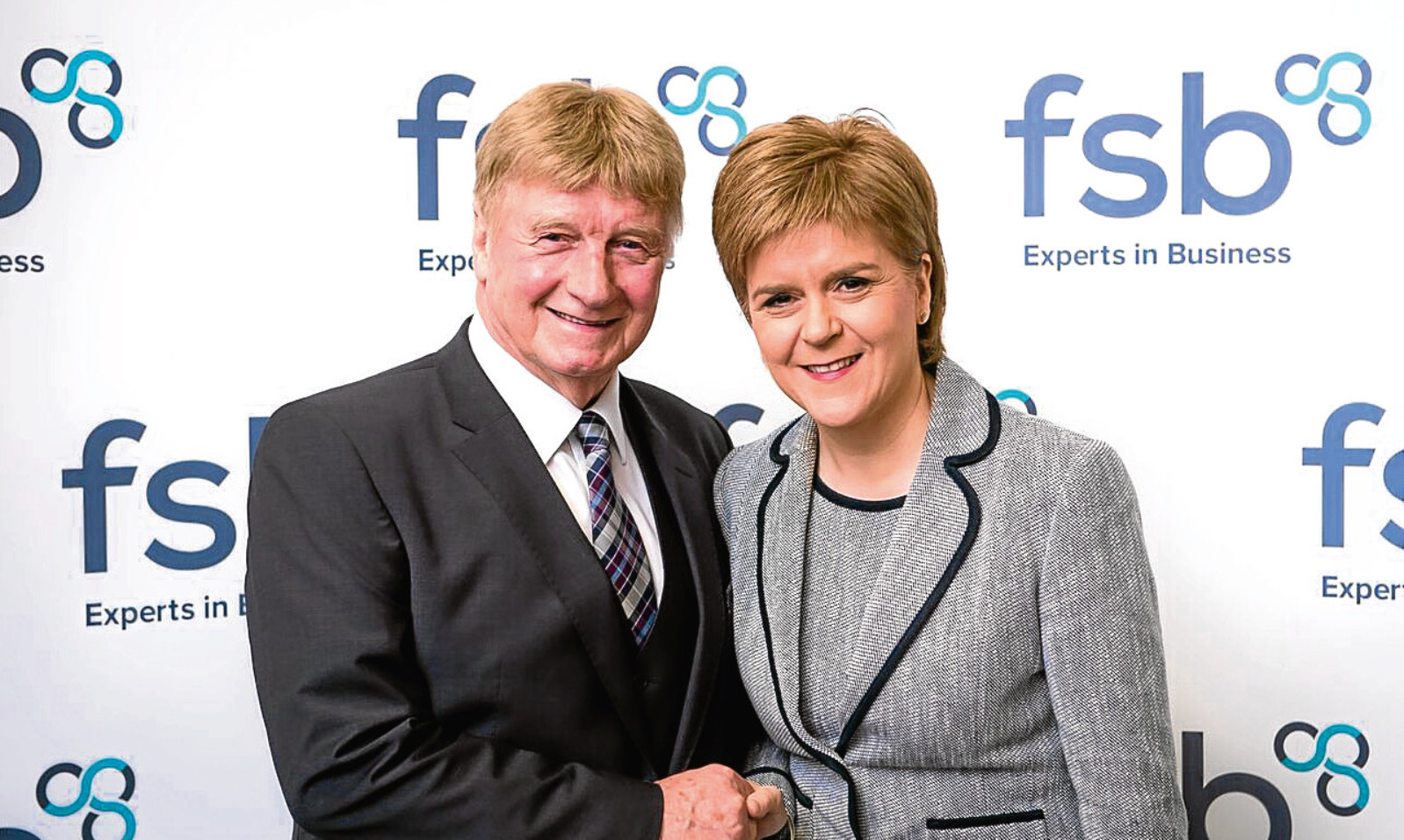 Andy Willox of FSB Scotland with First Minister Nicola Sturgeon last year. The Scottish Government will receive a copy of the FSB's new report